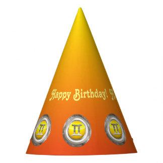 Gemini Zodiac Sign Party Hat