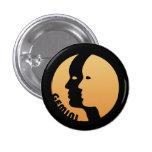 Gemini Zodiac Sign Pinback Button
