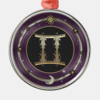 Gemini Zodiac Sign Premium Ornament