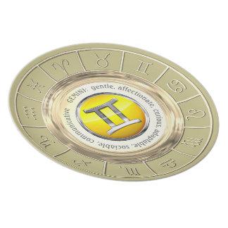 Gemini Zodiac Sign Traits Melamine Plate