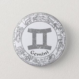 Gemini Zodiac sign vintage Pinback Button