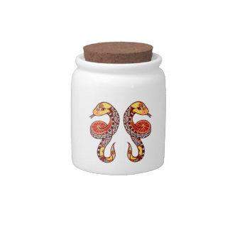 Gemini Zodiac - Snake Candy Jars