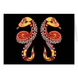 Gemini Zodiac - Snake Card