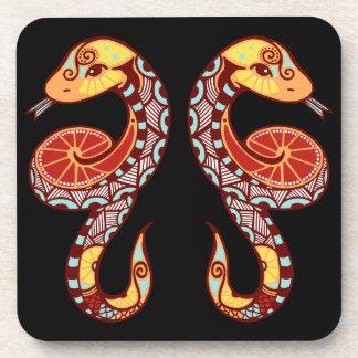 Gemini Zodiac - Snake Beverage Coaster