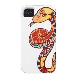 Gemini Zodiac - Snake Vibe iPhone 4 Funda