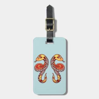 Gemini Zodiac - Snake Tag For Bags