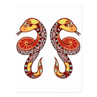 Gemini Zodiac - Snake Post Cards
