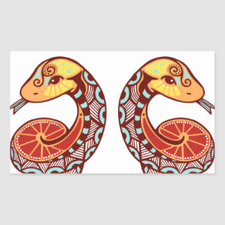 Gemini Zodiac - Snake Rectangular Sticker
