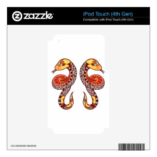 Gemini Zodiac - Snake iPod Touch 4G Decals
