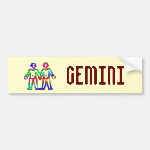 Gemini Zodiac Star Sign Color Line Bumper Sticker