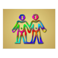 Gemini Zodiac Star Sign Color Line Postcard at Zazzle