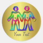 Gemini Zodiac Star Sign Color Line Stickers