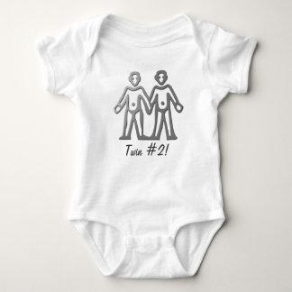 Gemini Zodiac Star Sign In Light Silver Baby Bodysuit