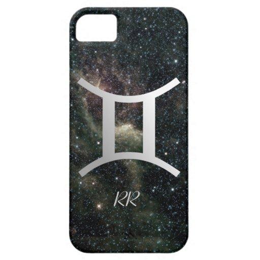 Gemini Zodiac Star Sign on Universe iPhone 5 Cover