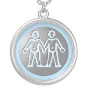 Gemini Zodiac Star Sign Premium Silver necklaces