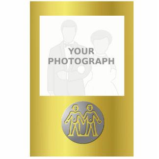 Gemini Zodiac Star Sign Premium Silver Standing Photo Sculpture