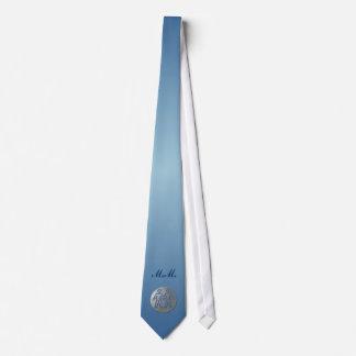 Gemini Zodiac Star Sign Premium Silver Neckties