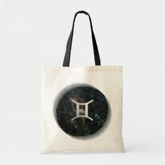 Gemini Zodiac Star Sign Universe Crafts & Shopping Budget Tote Bag