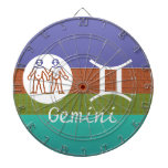 GEMINI -  ZODIAC Symbol Dart Boards