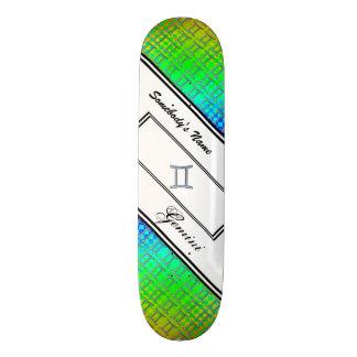 Gemini Zodiac Symbol Element by Kenneth Yoncich Skateboard Deck