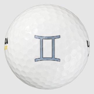Gemini Zodiac Symbol Element Pack Of Golf Balls