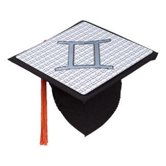 Gemini Zodiac Symbol Element Graduation Cap Topper