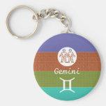 GEMINI -  ZODIAC Symbol Keychain