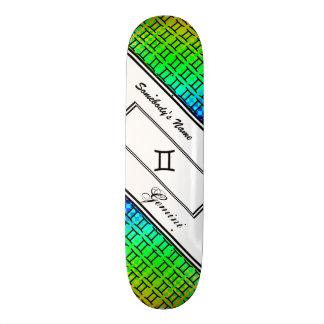 Gemini Zodiac Symbol Standard by Kenneth Yoncich Skateboard Deck