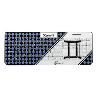 Gemini Zodiac Symbol Standard by Kenneth Yoncich Wireless Keyboard