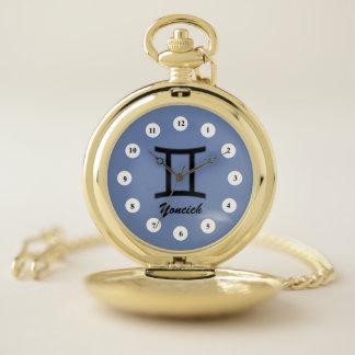 Gemini Zodiac Symbol Standard (Cf) by K Yoncich Pocket Watch