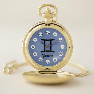 Gemini Zodiac Symbol Standard(CHN/JPf)by K Yoncich Pocket Watch