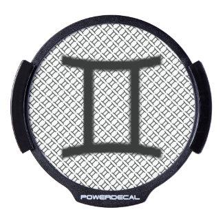 Gemini Zodiac Symbol Standard LED Window Decal