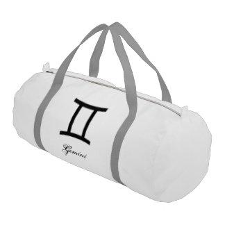 Gemini Zodiac Symbol Standard Gym Duffel Bag