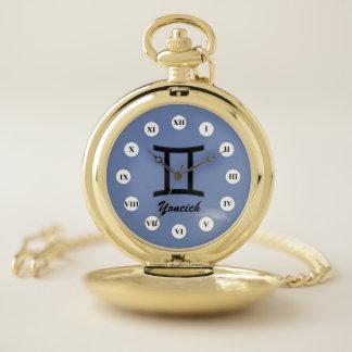 Gemini Zodiac Symbol Standard (Rf) by K Yoncich Pocket Watch