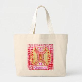 GEMINI Zodiac Symbols Tote Bag