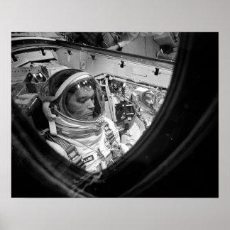 Géminis 10 astronautas a bordo de la cápsula póster