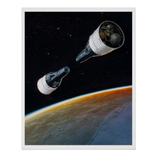 Géminis 6 y géminis 7 naves espaciales impresiones