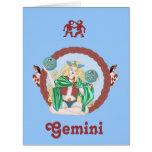 Géminis célticos tarjeta de felicitación grande