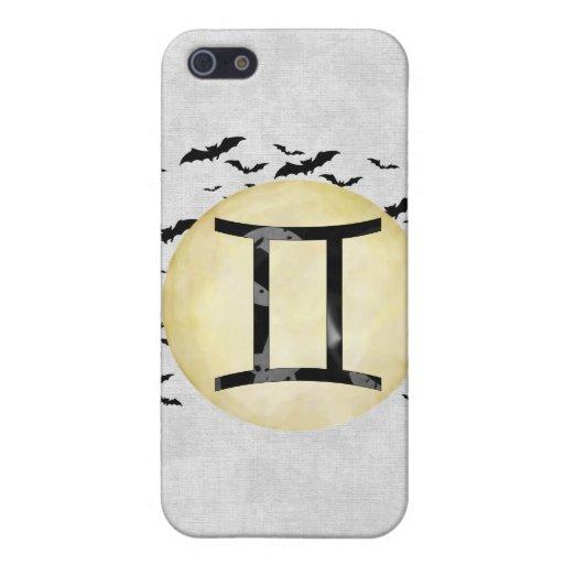 Géminis de la luna del palo iPhone 5 protectores