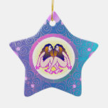 Géminis del ornamento de la muestra de la estrella adornos de navidad