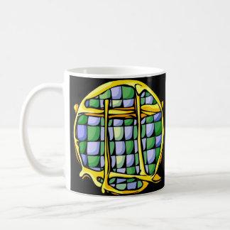 Géminis del vitral taza de café