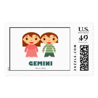 Géminis del zodiaco para los niños sellos postales