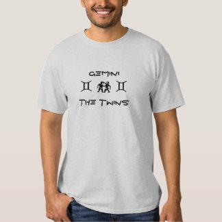 Géminis la camiseta del zodiaco de los gemelos a playeras