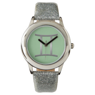 géminis - plata relojes de pulsera