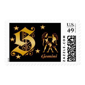 Géminis-s Sello Postal