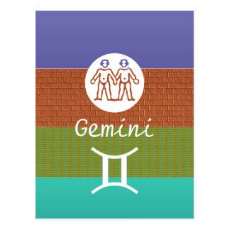 GÉMINIS - símbolo del ZODIACO Tarjetas Postales