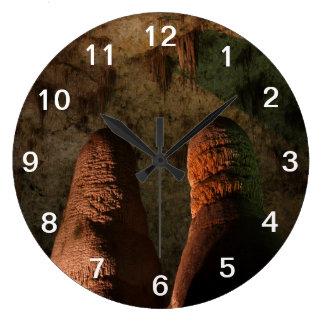 Géminis subterráneos reloj redondo grande