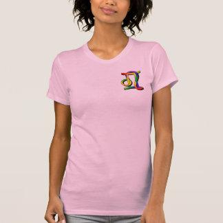 Géminis y Leo de GLBT Camiseta