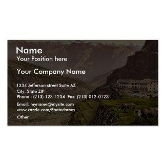 Gemmi Hotel and Leuk Valais Alps of Switzerland Business Card