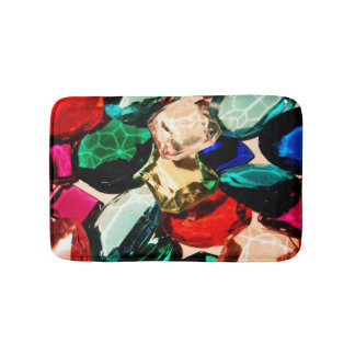 Gems Jewels Fancy Bling Jewelry Diamonds Crystals Bathroom Mat